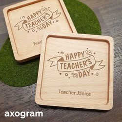 Teacher's Day Banner Coaster