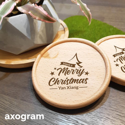 Merry Christmas coaster with personalized name