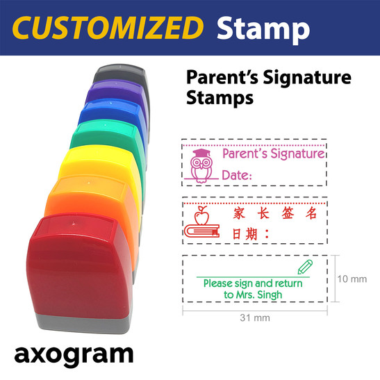 Parent's Signature Pre-inked Rubber Stamp