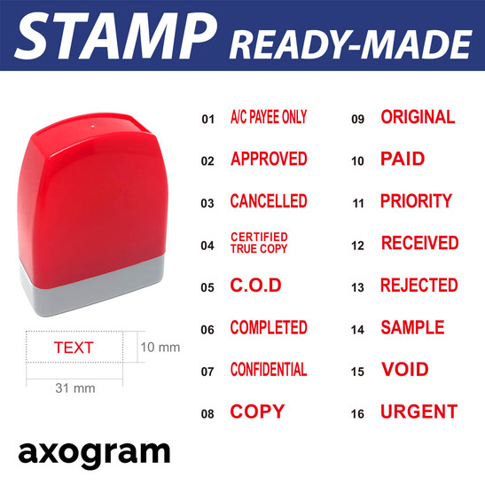 Ready Made Pre-inked Rubber Stamp