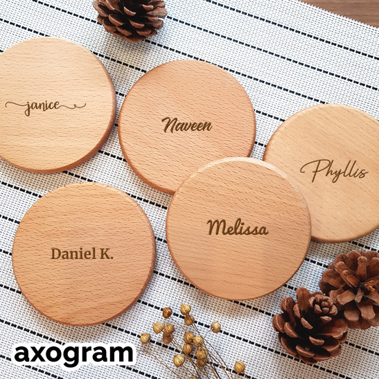 Personalized name / text coaster