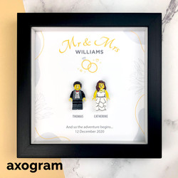 Wedding Lego Minifig 3D Frame
