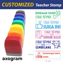 Teacher Name Pre-inked Rect Rubber Stamp (Malay)