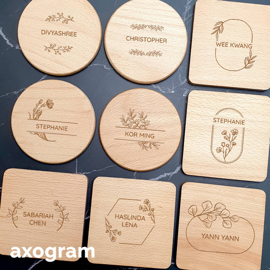 Personalized Message Round Coaster