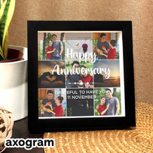 Happy Anniversary Photo Collage Frame