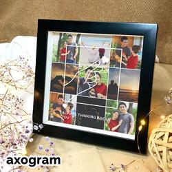 Finger Heart Photo Collage Frame