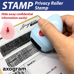 2 in 1 Identity Protection Privacy Roller Stamp with Tape Cutter