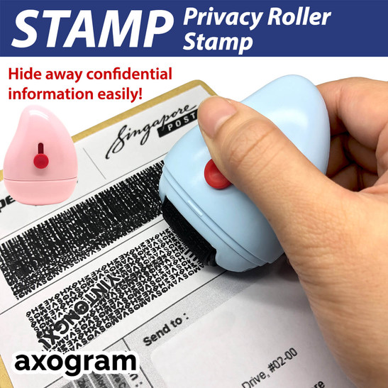 Identity Protection Privacy Roller Rubber Stamp
