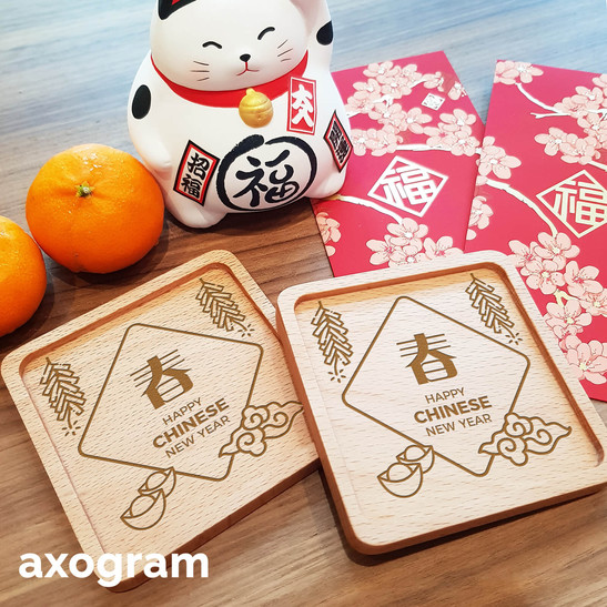 Lucky Chinese New Year Coaster