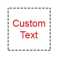Address / Custom text stamp (DF2867)