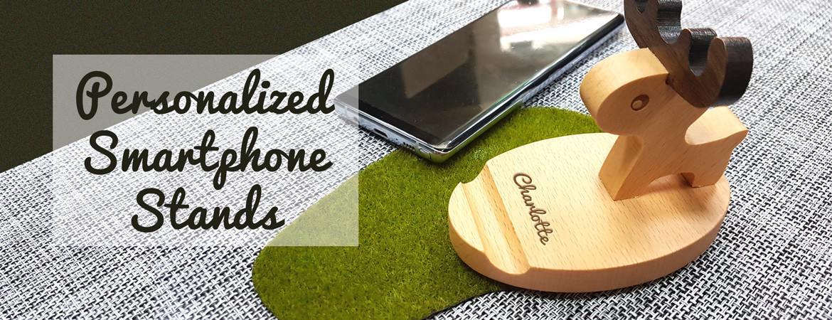 Personalized smartphone stand